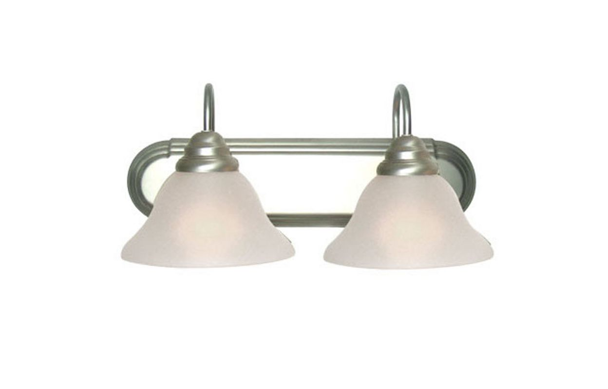 Woodbridge Lighting 50016 Basic 2 Light Vanity Light Satin Nickel Sale $63.12 ITEM: bci2195851 ID#:50016-STN :