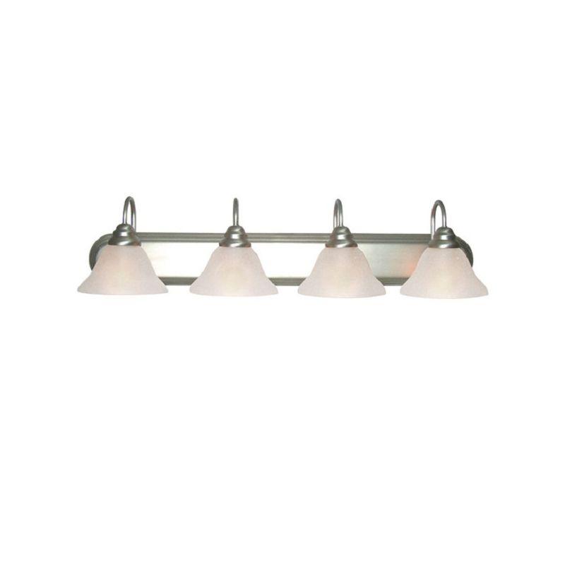 Woodbridge Lighting 50018 Basic 4 Light Satin Nickel Vanity Light