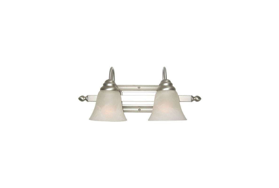 Woodbridge Lighting 50019 Basic 2 Light Satin Nickel Vanity Light