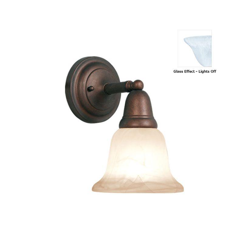 Woodbridge Lighting 50045 Hudson Glen 1 Light Bathroom Sconce Marbled