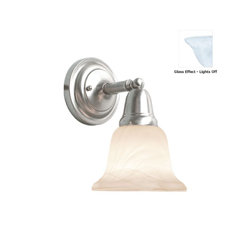 Woodbridge Lighting 50045 Hudson Glen 1 Light Bathroom Sconce Satin Sale $49.38 ITEM: bci2196003 ID#:50045-STN :