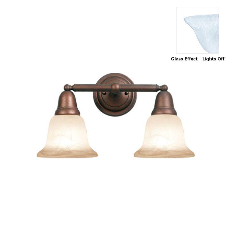 Woodbridge Lighting 50046 Hudson Glen 2 Light Bathroom Vanity Light