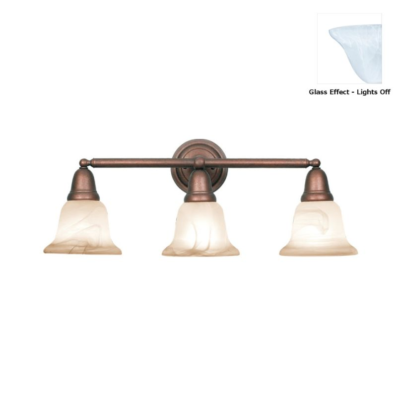 Woodbridge Lighting 50047 Hudson Glen 3 Light Vanity Light Marbled