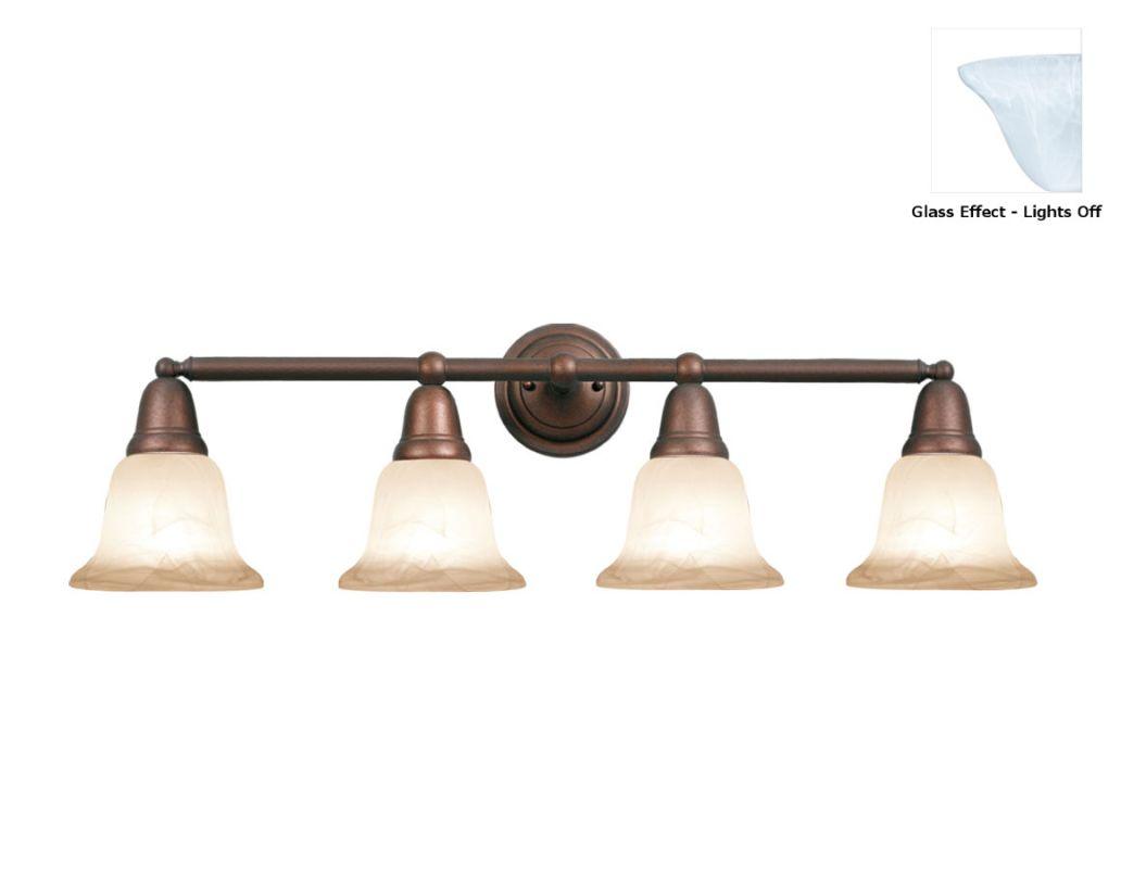 Woodbridge Lighting 50048 Hudson Glen 4 Light Vanity Light Marbled