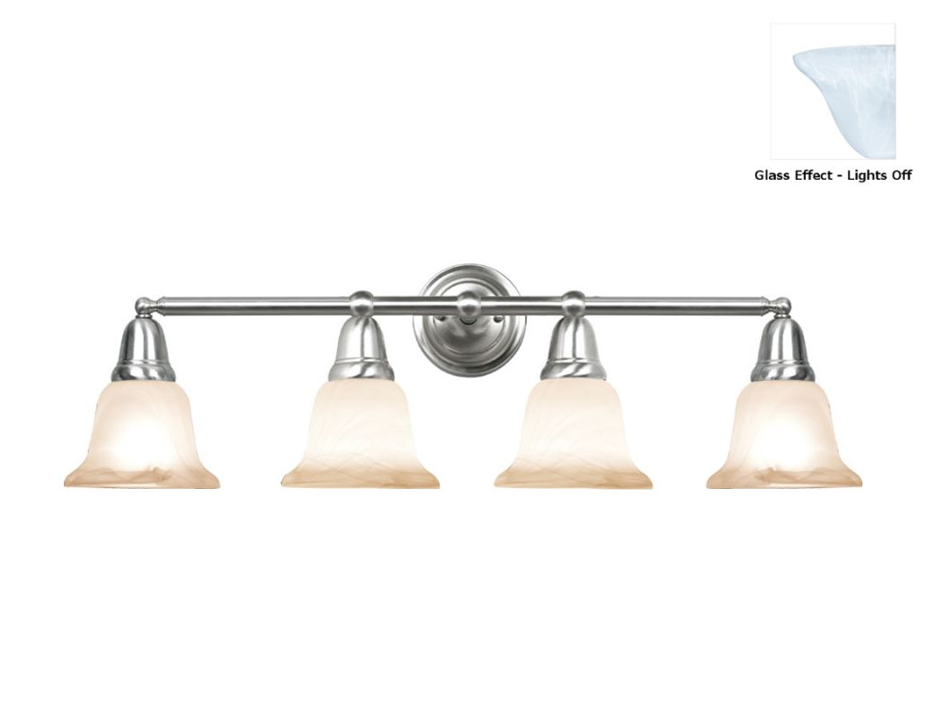 Woodbridge Lighting 50048 Hudson Glen 4 Light Vanity Light Satin