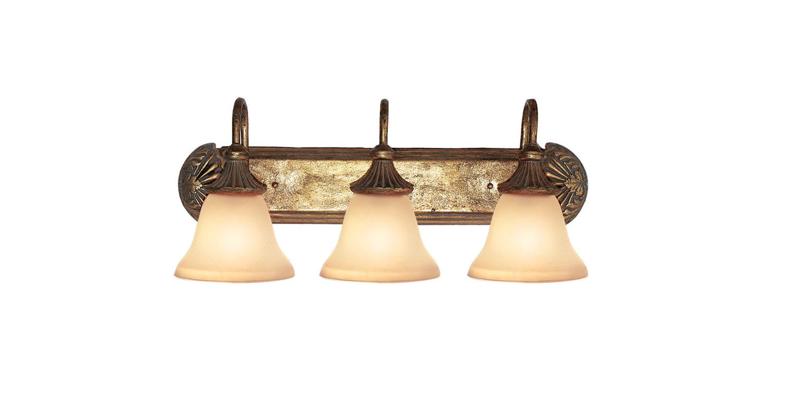 Antique Gold Vanity Lights : Woodbridge Lighting 53002-AGD Antique Gold Kensington Park 3 Light Antique Gold Vanity Light ...