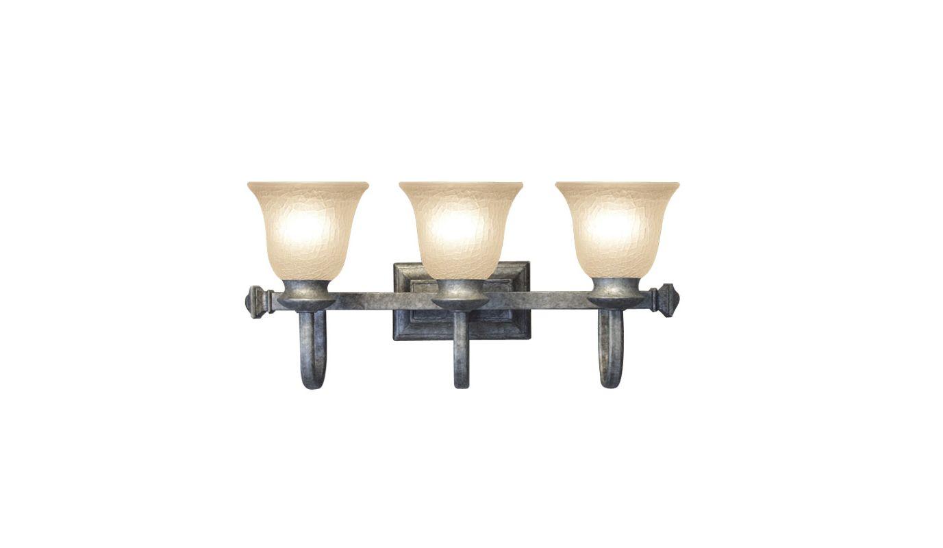 Woodbridge Lighting 53019 Dresden 3 Light Vanity Light Greystone