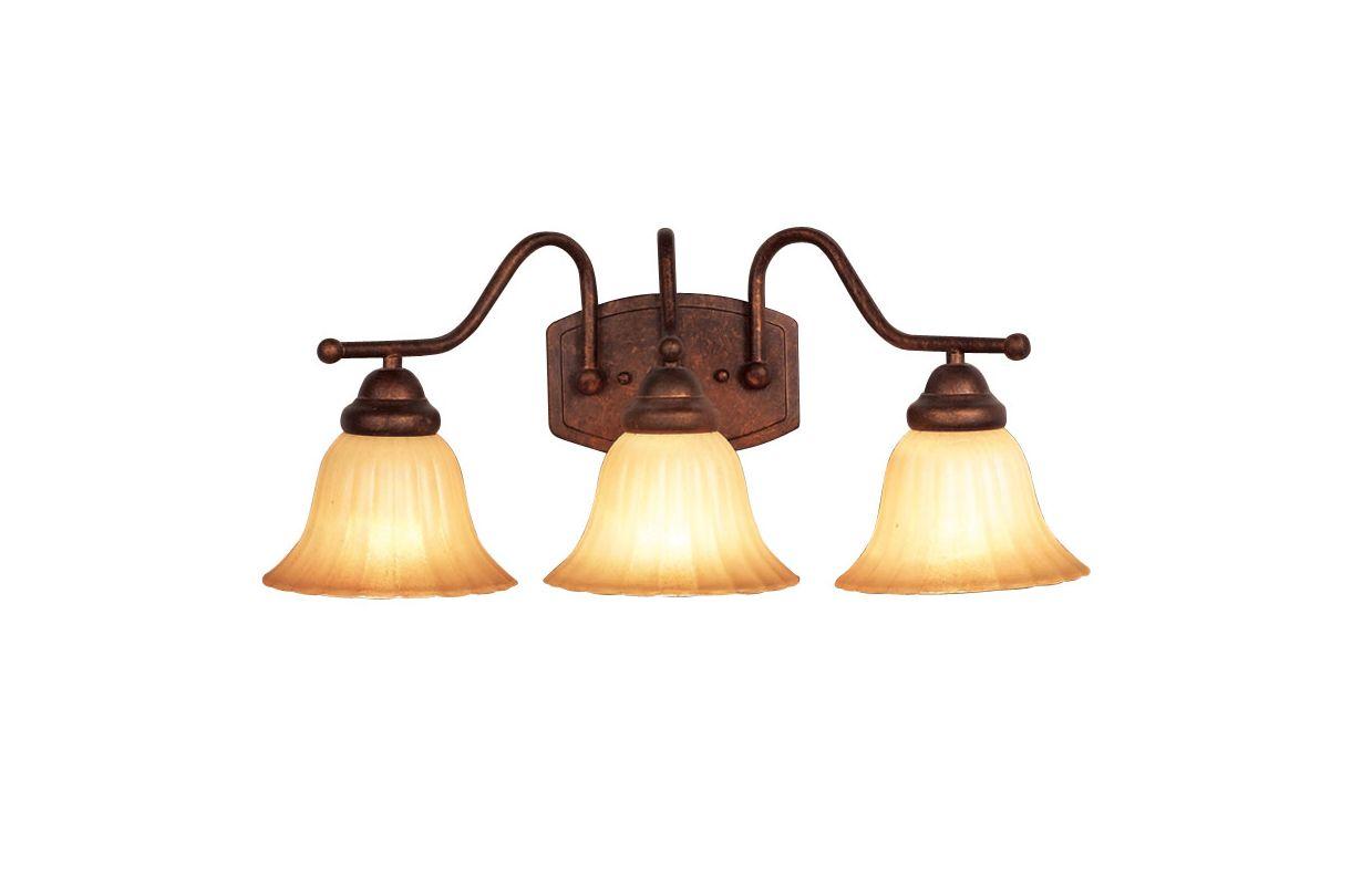 Woodbridge Lighting 53027 Morgan Park 3 Light Marbled Bronze Vanity