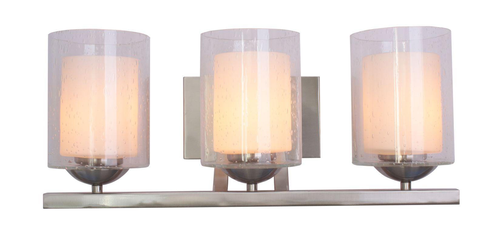 Woodbridge Lighting 53113 Cosmo 3 Light Vanity Light Satin Nickel