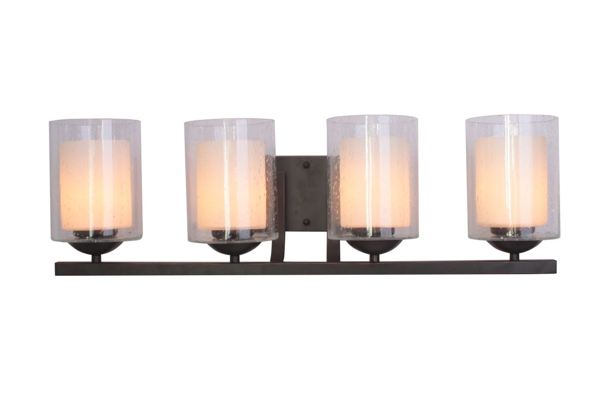 Woodbridge Lighting 53114 Cosmo 4 Light Vanity Light Bronze Indoor