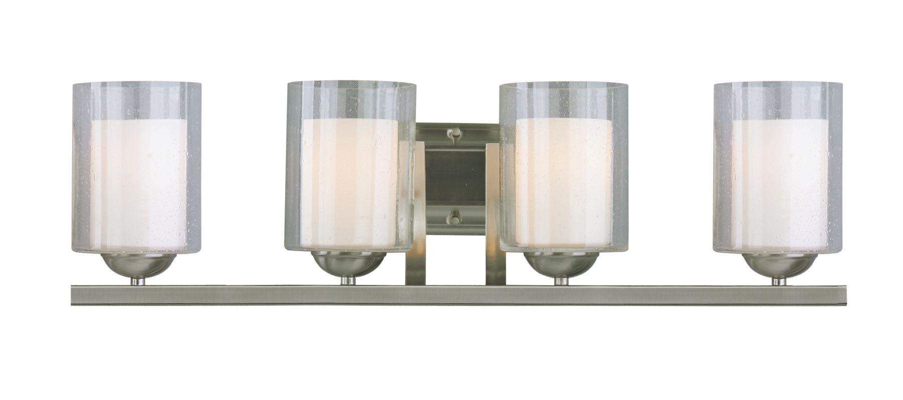 Woodbridge Lighting 53114 Cosmo 4 Light Vanity Light Satin Nickel