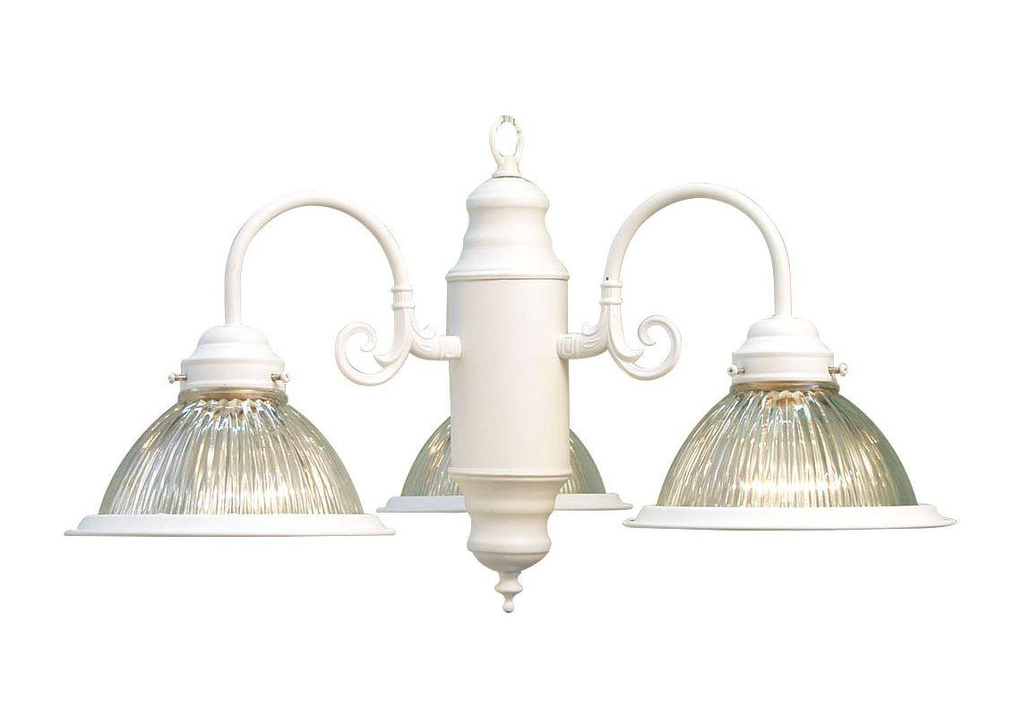 Woodbridge Lighting 10000-WHT 3 Light Down Light Single Tier