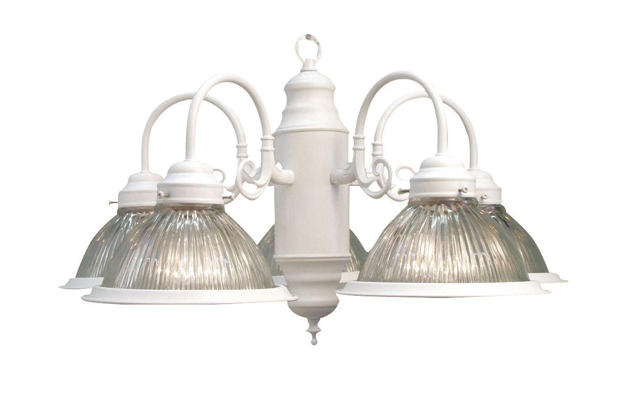 Woodbridge Lighting 10001-WHT 5 Light Down Light Single Tier