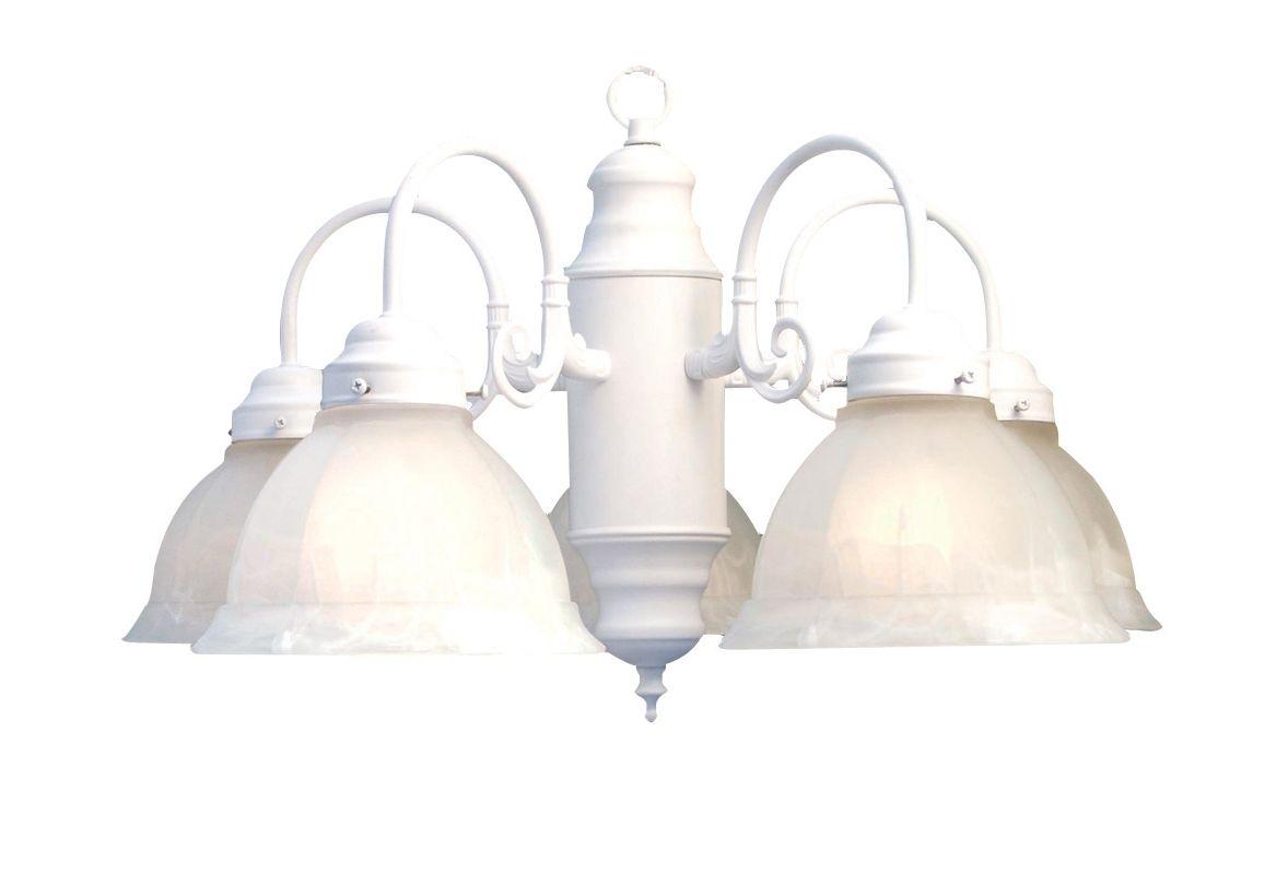 Progress Lighting Riverside Collection 4 Light Heirloom: Woodbridge Lighting 10002-WHT White 5 Light Down Light