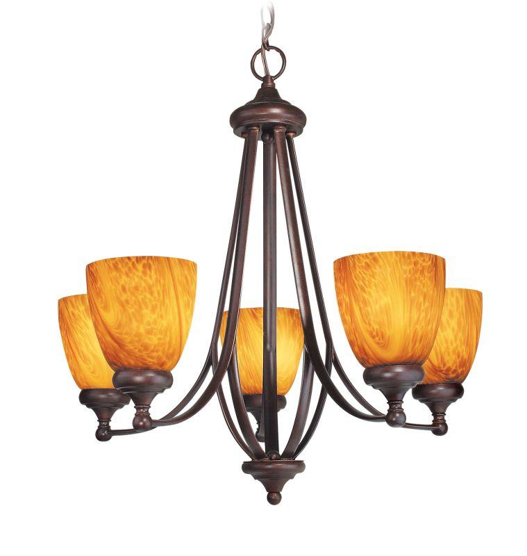 Woodbridge Lighting 10046-BOR 5 Light Up Light Single Tier Chandelier