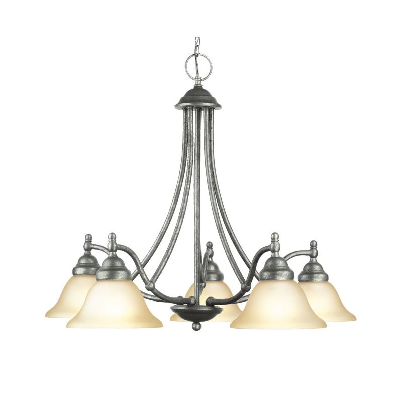 Woodbridge Lighting 12086-GST 5 Light Down Light Single Tier Sale $227.65 ITEM: bci1860214 ID#:12086-GST :