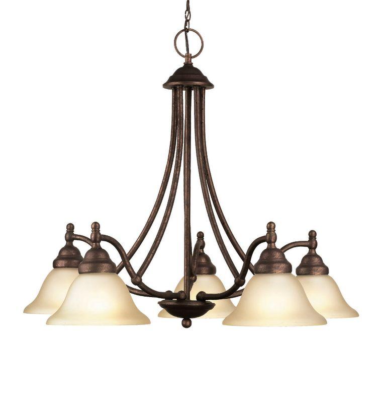 Woodbridge Lighting 12086-MBZ 5 Light Down Light Single Tier