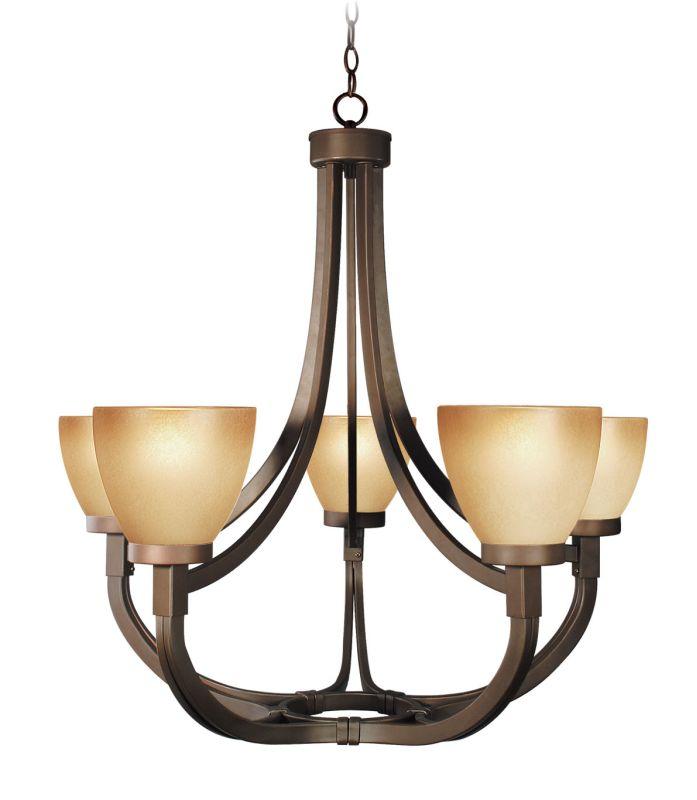 Woodbridge Lighting 12146-BRZ 5 Light Up Light Single Tier Chandelier Sale $410.51 ITEM: bci1860233 ID#:12146-BRZ :