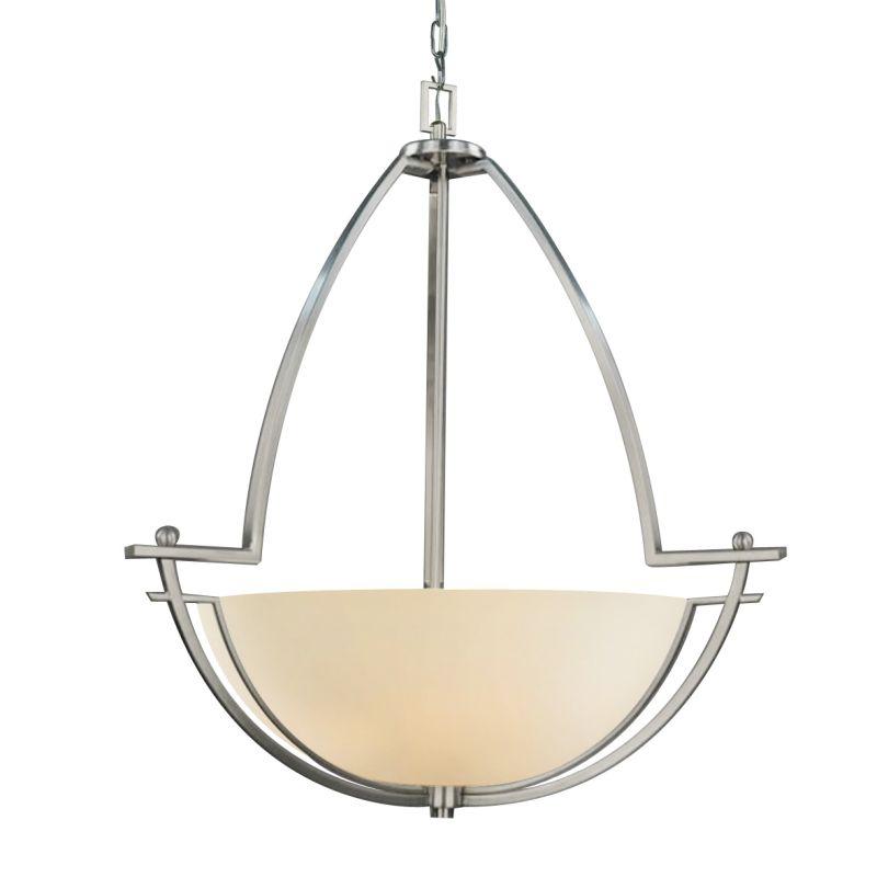 Woodbridge Lighting 12220-STN 3 Light Up Light Foyer Pendant from the Sale $273.47 ITEM: bci1860248 ID#:12220-STN :