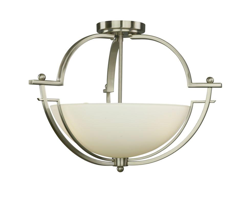Woodbridge Lighting 12235-STN 3 Light Down Light Semi-Flush Ceiling Sale $172.85 ITEM: bci1860250 ID#:12235-STN :
