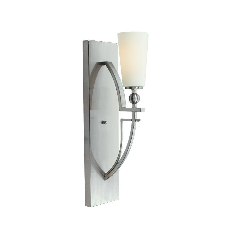 Woodbridge Lighting 12241-STN 1 Light Up Lighting Wall Sconce from the