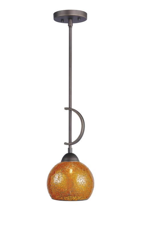 Woodbridge Lighting 13023MEB-M00AMB 1 Light Down Light Mini Pendant