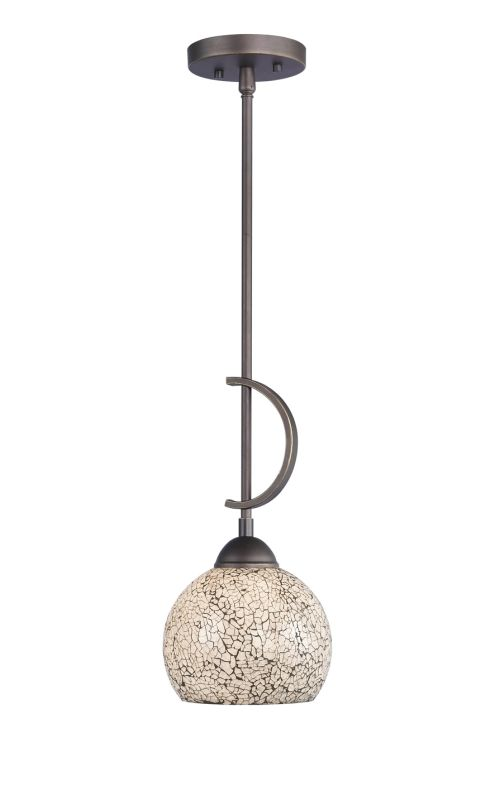 Woodbridge Lighting 13023MEB-M00WHT 1 Light Down Light Mini Pendant