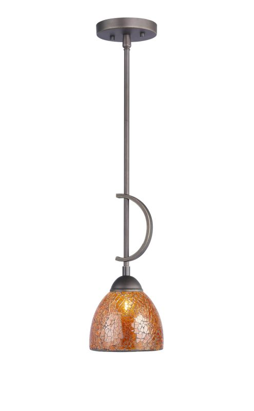 Woodbridge Lighting 13023MEB-M21AMB 1 Light Down Light Mini Pendant