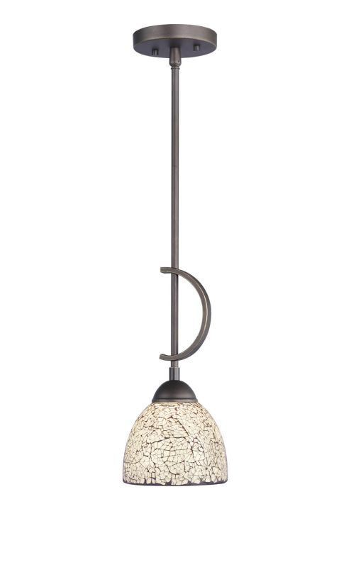 Woodbridge Lighting 13023MEB-M21WHT 1 Light Down Light Mini Pendant
