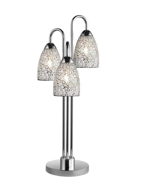 Woodbridge Lighting 13283CHR-M20CLR 3 Light Table Lamp from the