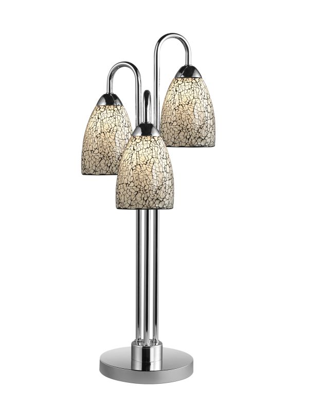 Woodbridge Lighting 13283CHR-M20WHT 3 Light Table Lamp from the