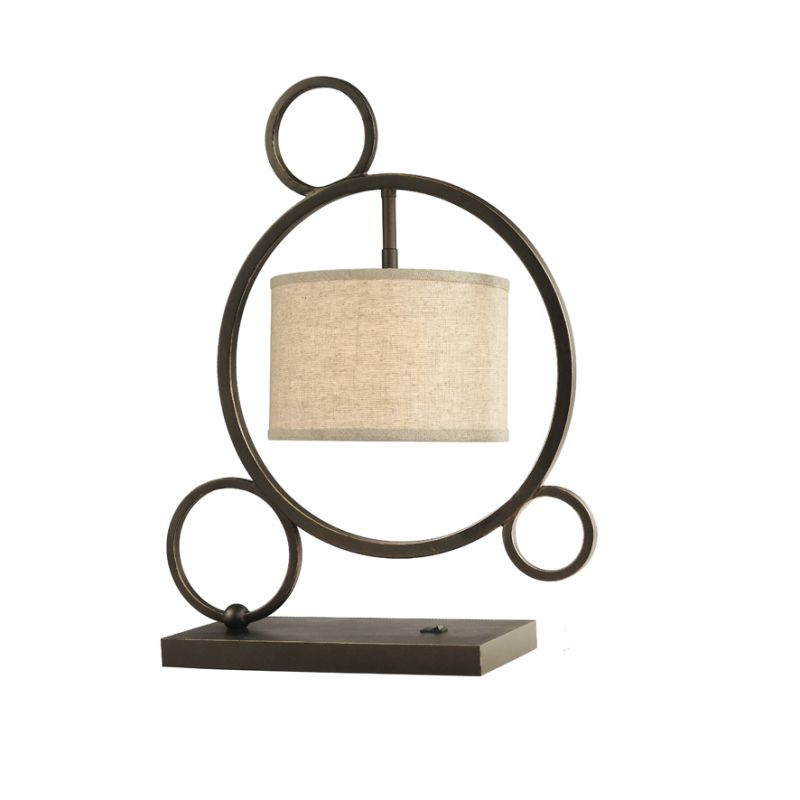 Woodbridge Lighting 13381MEB-S10801 1 Light Table Lamp from the Cirque
