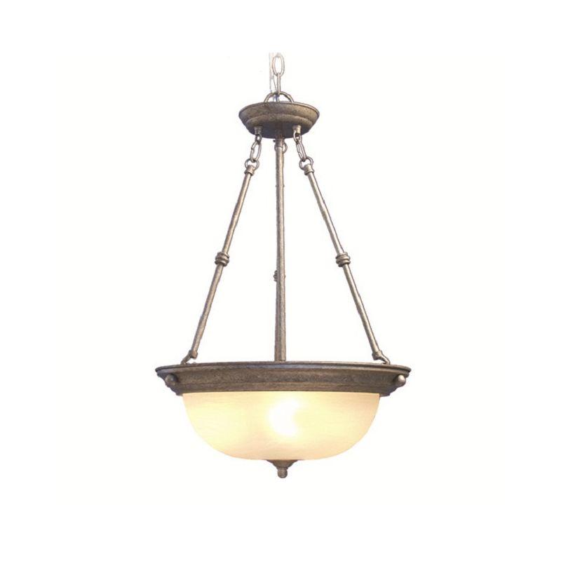 Woodbridge Lighting 20001-GST 3 Light Down Light Foyer Pendant from
