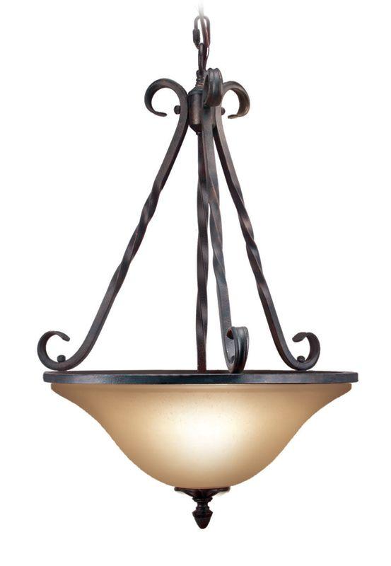 Woodbridge Lighting 22008-TOR 3 Light Down Light Foyer Pendant from