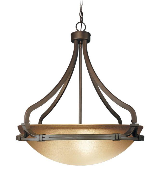 Woodbridge Lighting 23013-BRZ 3 Light Down Light Foyer Pendant from