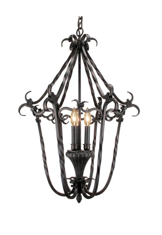 Woodbridge Lighting 25003-TOR 3 Light Up Light Foyer Pendant from the
