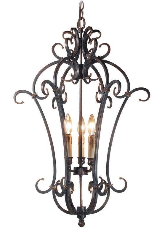 Woodbridge Lighting 25006-AUB 3 Light Up Light Foyer Pendant from the