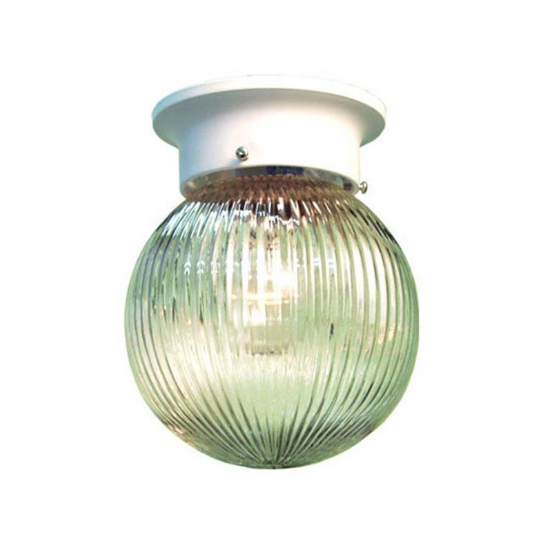 Woodbridge Lighting 30007-WHT 1 Light Down Light Flushmount Ceiling