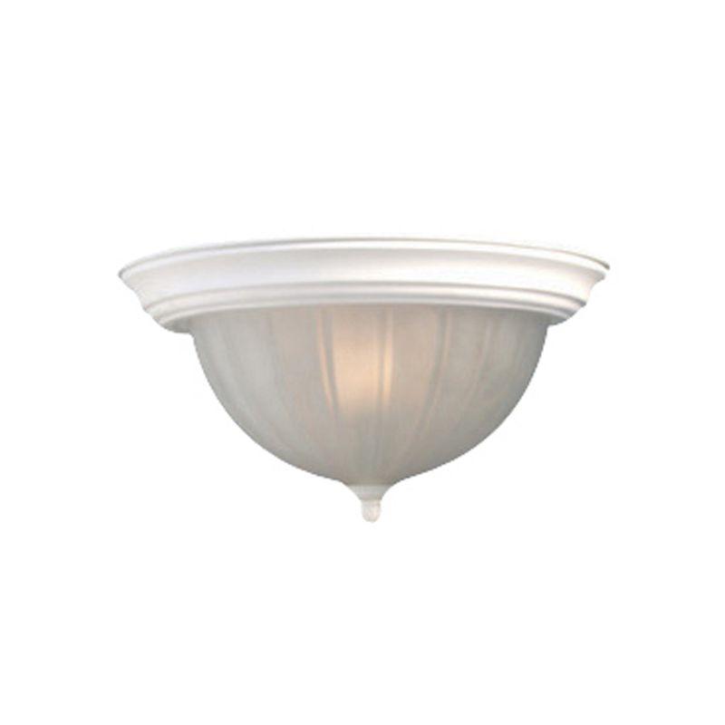 Woodbridge Lighting 31006-WHT 1 Light Down Light Flushmount Ceiling