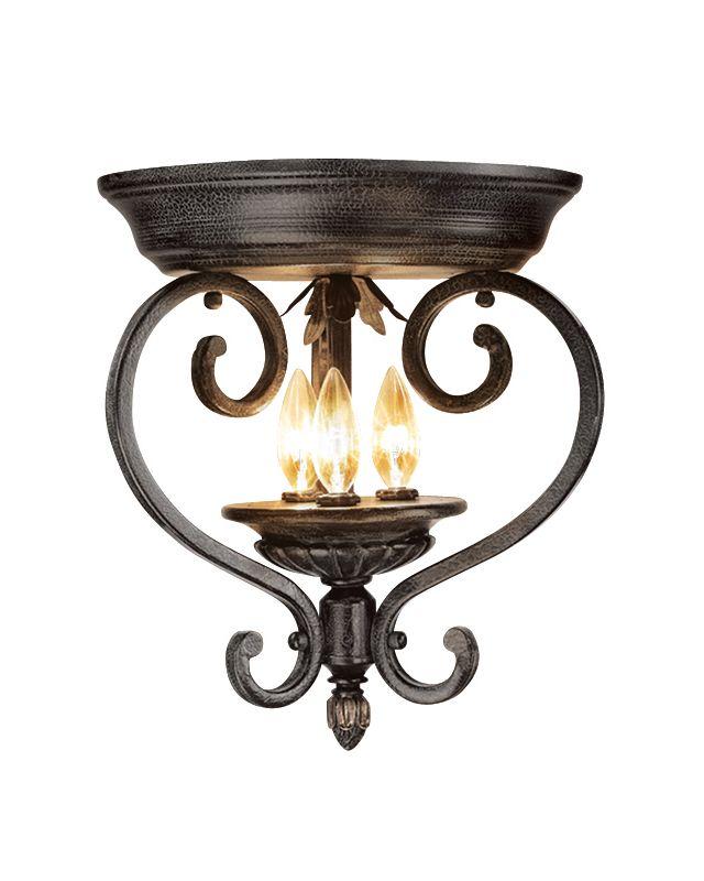 Woodbridge Lighting 36000-TOR 3 Light Down Light Flushmount Ceiling