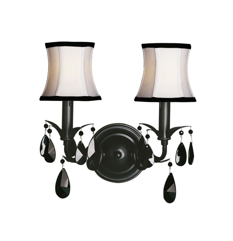 Woodbridge Lighting 42034-BLK 2 Light Up Light Wall Sconce from the