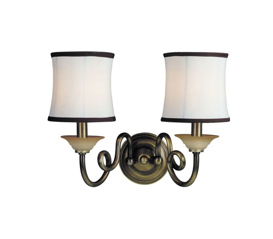 Woodbridge Lighting 42036-CBR 2 Light Up Light Wall Sconce from the