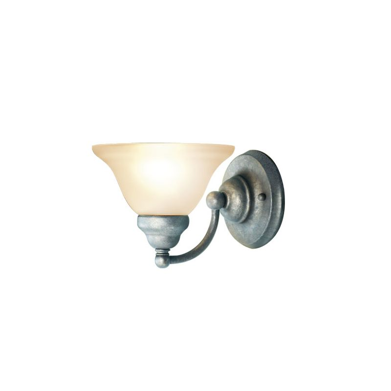 Woodbridge Lighting 50025-GST 1 Light Up Light Bathroom Fixture from