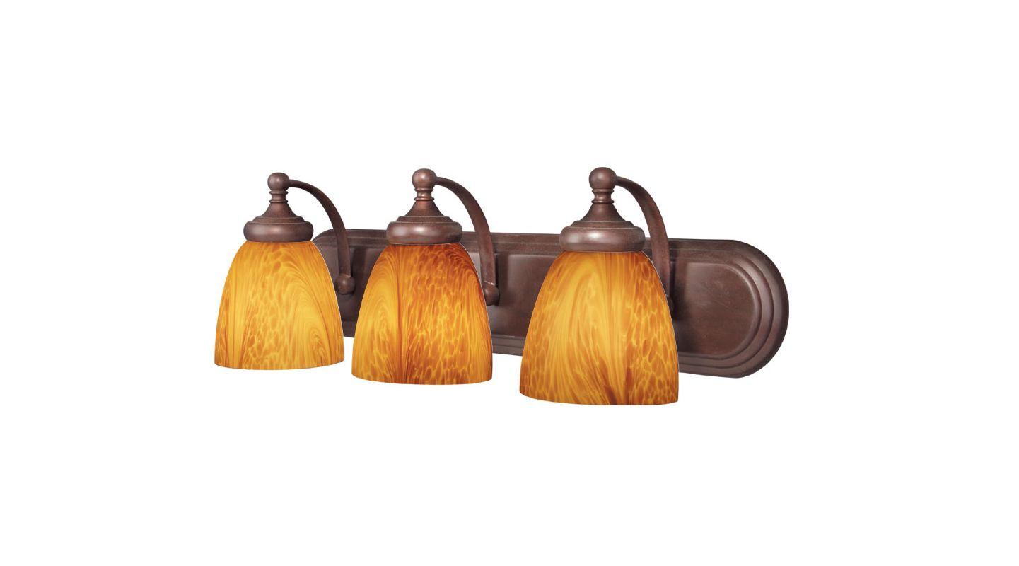 Woodbridge Lighting 50057-BOR 3 Light Down Light Bathroom Fixture from
