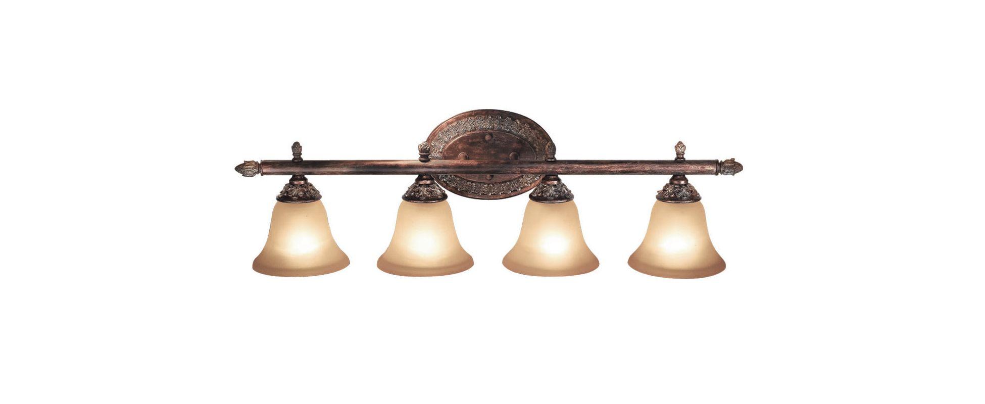 Woodbridge Lighting 53023-BRK 4 Light Down Light Bathroom Fixture from