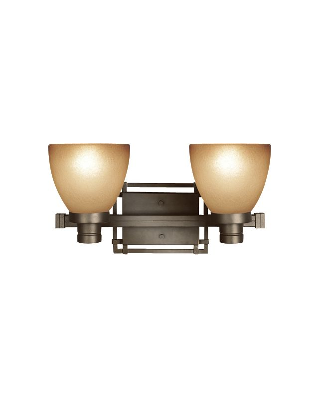 Woodbridge Lighting 53076-BRZ 2 Light Up Light Bathroom Fixture from