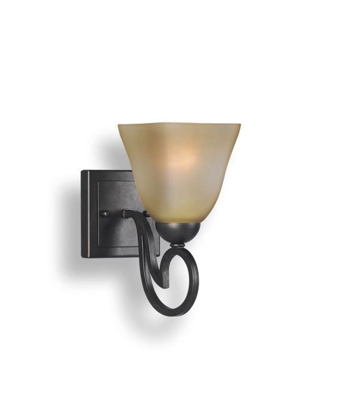 Woodbridge Lighting 53101-BOR 1 Light Up Light Bathroom Fixture from