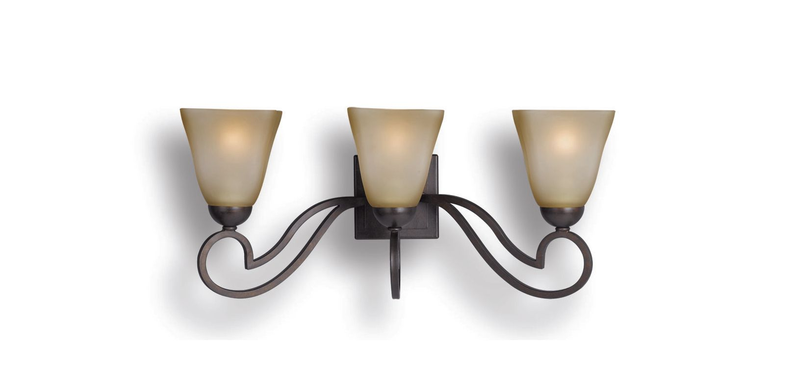 Woodbridge Lighting 53103-BOR 3 Light Up Light Bathroom Fixture from