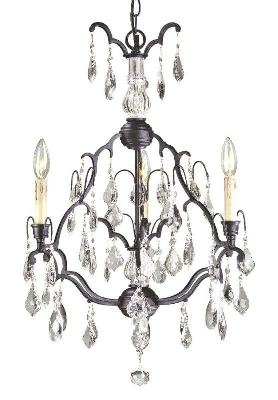 World Imports WI2615 Crystal 3 Light Mini Chandelier from the Timeless