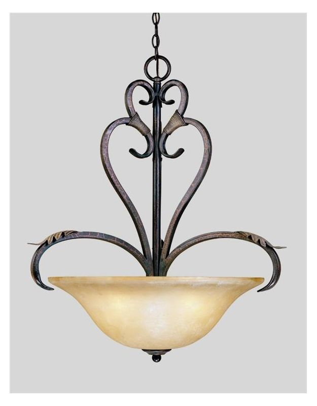 World Imports WI2628 Four Light Bowl Pendant from the Olympus